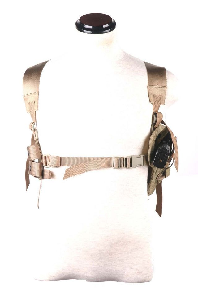 Pantac Tactical Type 1 Shoulder Holster (Khaki / CORDURA)