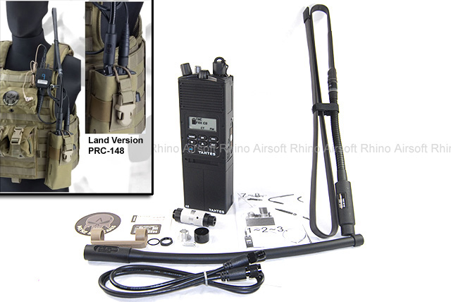 Spartan Airsoft Land Version AN/PRC-148 MBITR Dummy Radio with Blade Antenna