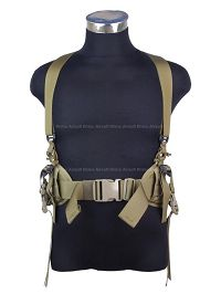 View Pantac HS Low Drag Suspenders (Khaki) details