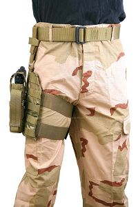 View Pantac MOLLE Style Leg Panel with Holster (Offcial Multicam / CORDURA) details