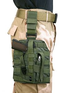 View Pantac MOLLE Style Leg Panel with Holster (OD / CORDURA) details