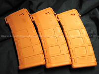 View Magpul PTS PMAG M Version (Mid Cap 120 Rounds) - Orange details