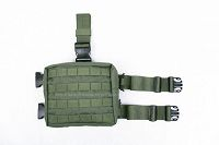 View Pantac Medium Drop Leg Accessories Pouch (OD, CORDURA) details