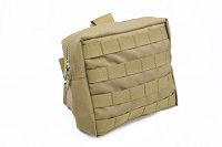 View Pantac Medium Drop Leg Accessories Pouch (Khaki, CORDURA) details