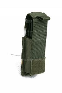 View Pantac MOLLE 9mm Pistol Mag Pouch with Hard Insert (RG / Cordura) details