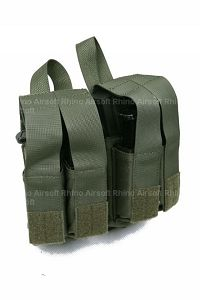 View Pantac Molle M16 Double Mag & 9MM 4-Mag Pouch with Hard Insert (RG / Cordura) details