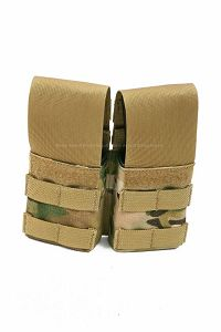 View Pantac Double M4 / M16 Magazine Pouch with Plastic Inserts (Crye Precision Multicam / Cordura) details