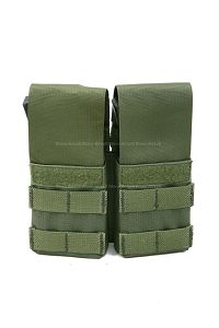 View Pantac Double M4 / M16 Magazine Pouch with Plastic Inserts (OD / CORDURA) details