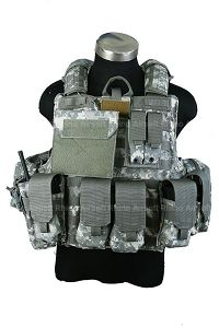 View Pantac Maritime Force Recon Vest with MOLLE Pouches (Medium / ACU / Cordura) details