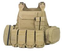 View Pantac MOLLE Style PC Plate Carrier (Khaki / Medium / CORDURA) details