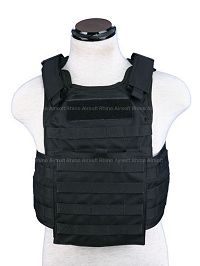 View Pantac Molle Tactical Plate Carrier Full Set (Black / Medium / Cordura) details